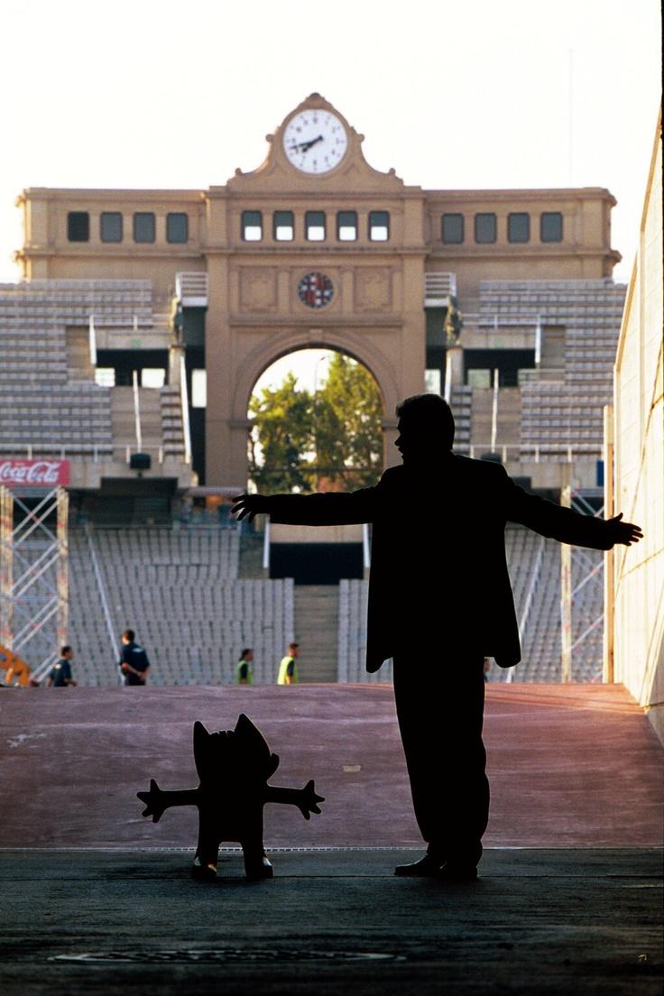 Maragall y Cobi, la mascota de los JJOO Barcelona-92