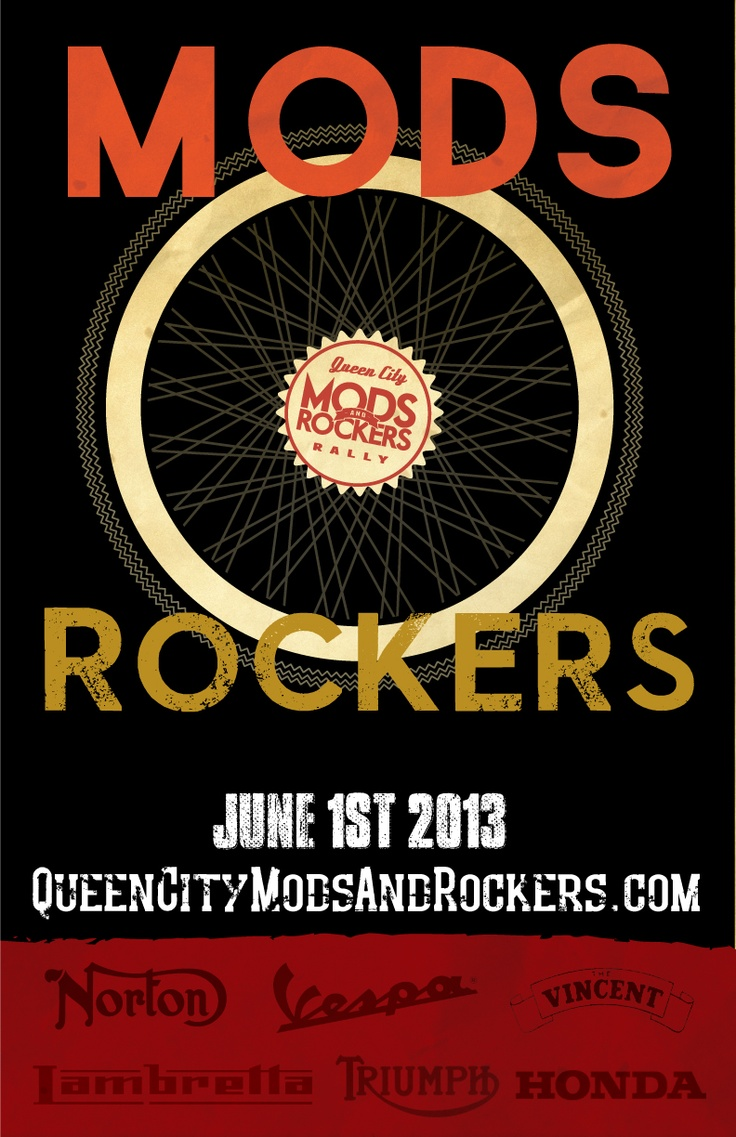 Poster design contest -  Matt Summers Poster 4 Submitted For The 2013 Queen City Mods Rockers Rally
