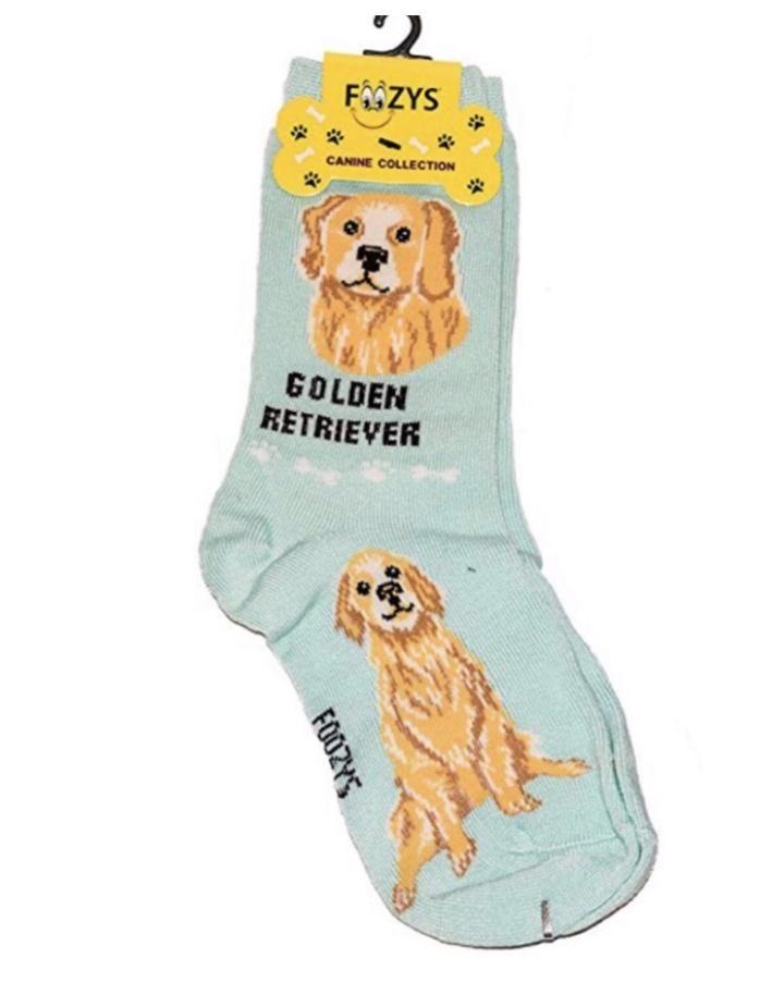 Foozys Dog Lovers,Yellow Socks Ladies Size 9-11