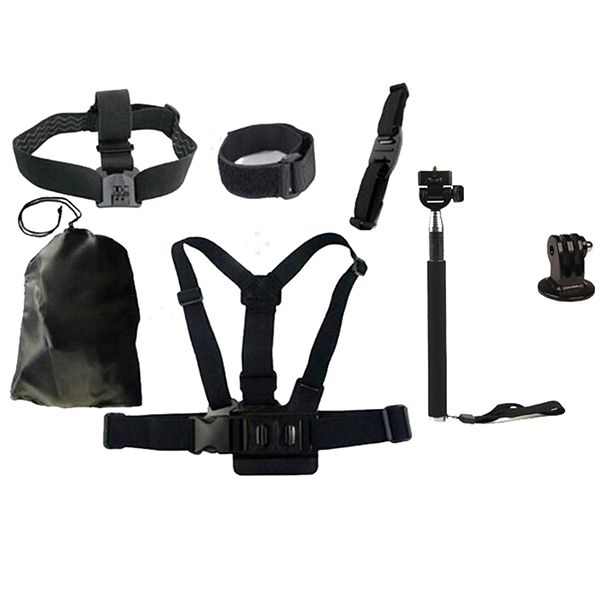 7pcs Basic Outdoor Sports Accessories Bundle Kit for Gopro4 Action Sports Camera