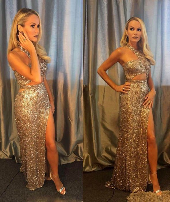 Amanda Holden sparkles at the Britain's Got Talent finals