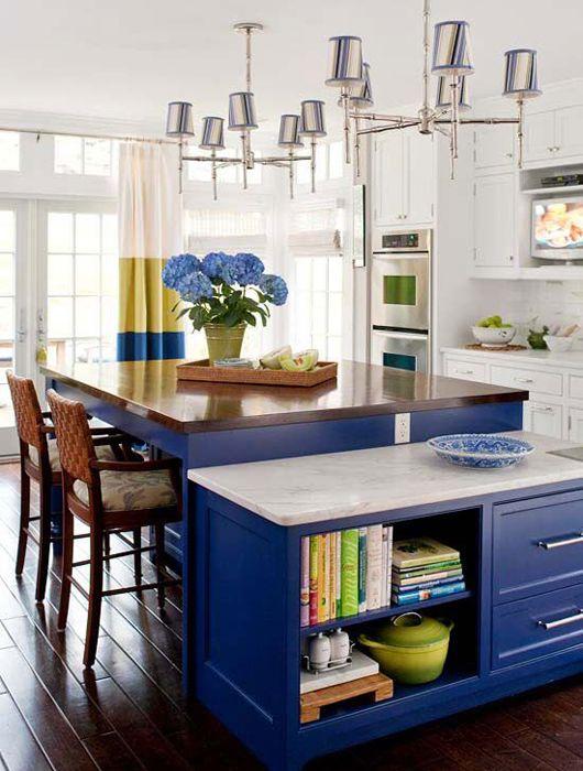 Chaise De Cuisine Leon : Cuisine bleu  idées décoration cuisine bleue  cuisine  Pinterest