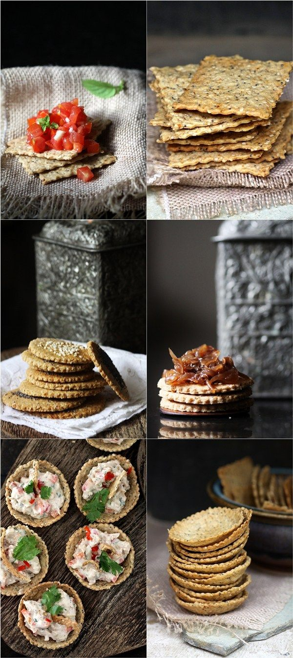 Delicious, light, addictive, versatile and simple to make, crackers don't get better than this. I made some seedy crisps for canapes with the same dough too.