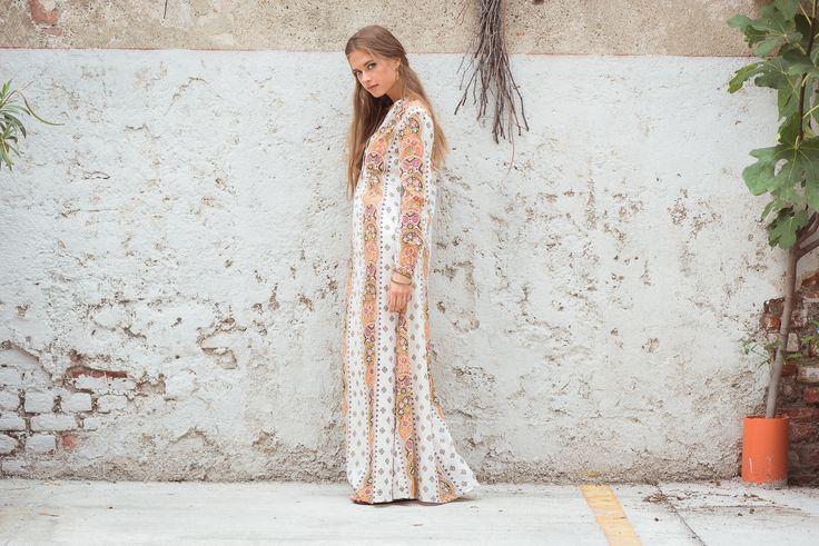 Desire Dress Mosaic Print, Natural