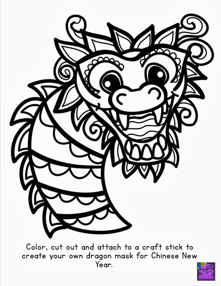 30 best panda images on pinterest | pandas, cute panda and giant ... - Chinese Dragon Mask Coloring Pages