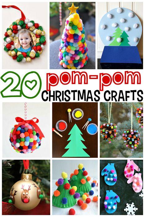 20 Pom Pom Christmas Crafts for Kids !