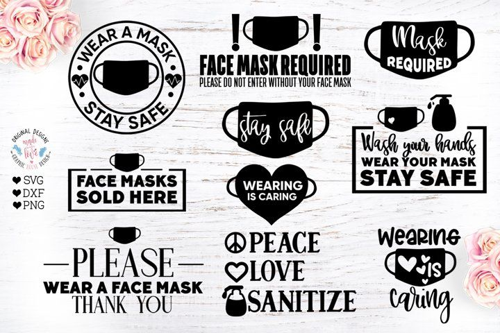 Wear A Face Mask Quotes Bundle 803372 Svgs Design Bundles In 2020 Mask Quotes Digital Portfolio Template Face Mask