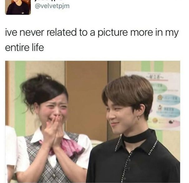 That girl is me  when I meet jimin in the real life