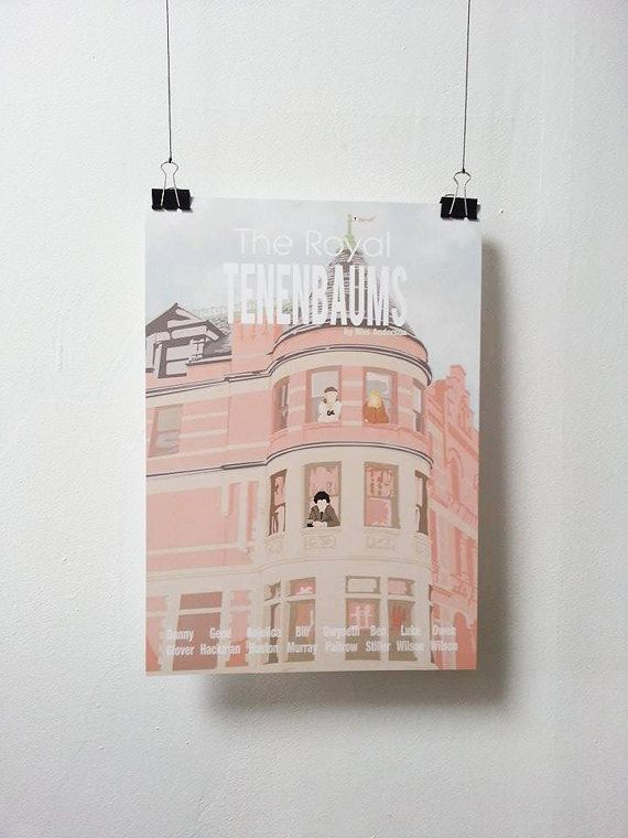 Wes Anderson print - The Royal Tenenbaums Poster Minuscule Motion Sold on Etsy