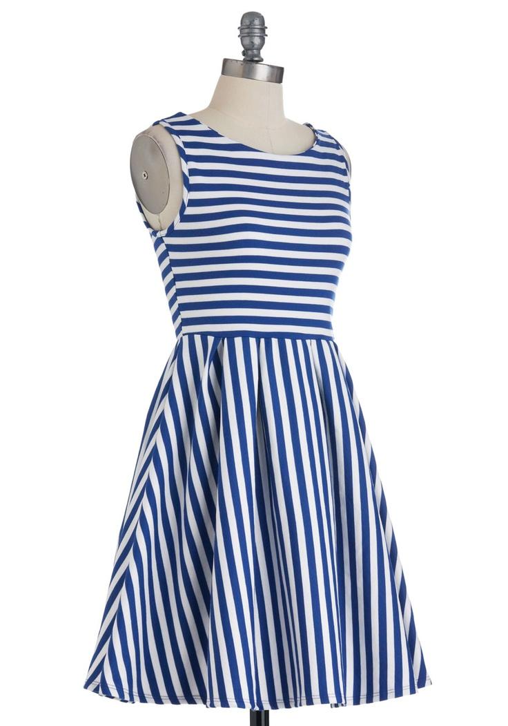 Whats the Lineup? Dress in Cobalt | Mod Retro Vintage Dresses | ModCloth.com