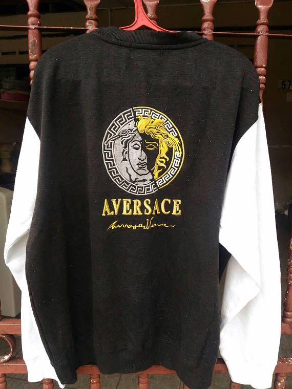 1d31bb33 Vintage A.Versace Logo Color Block Sweater Versace Jeans Couture-----