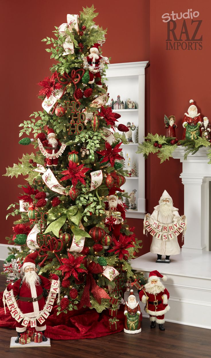 Red and white christmas tree decorating ideas - Red And White Christmas Tree