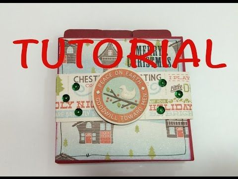 DIY tutorial mini album navidad manualidad facil y barata idea para regalar - YouTube