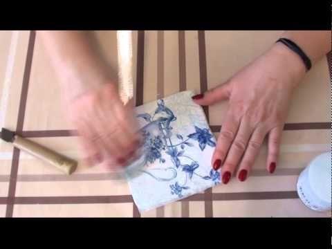 Клей акриловый. Как приклеить салфетку без складок и очень быстро. - YouTube