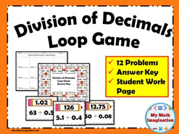 Division of Decimals Loop Game Get your students walking and talking about math with this engaging activity!