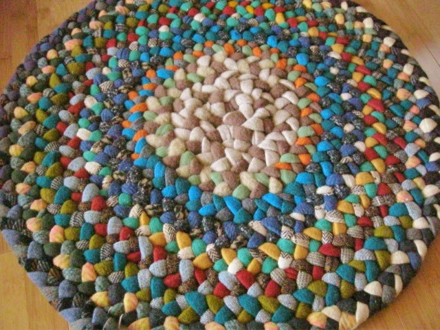 Great Earthtone Braided Wool Rug In Progress By Mrs Ginther, Via Flickr
