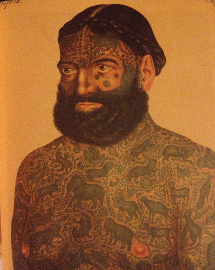 Prince Constantine, Albania, about 1870 #tattoo #history