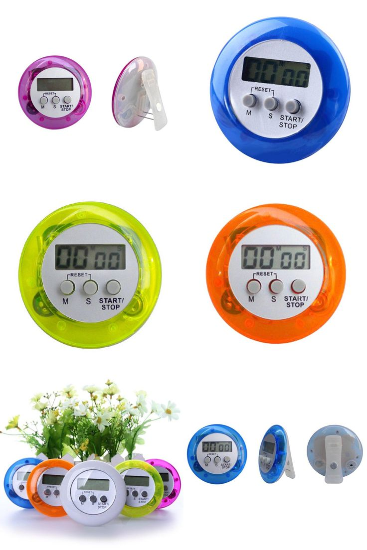 [Visit to Buy] Round Magnetic LCD Digital Kitchen Countdown Timer Alarm White Kitchen Timer Practical Cooking Timer Alarm Clock jd0872 #Advertisement