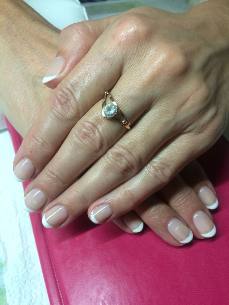 Classic french gel polish manicure ❤️