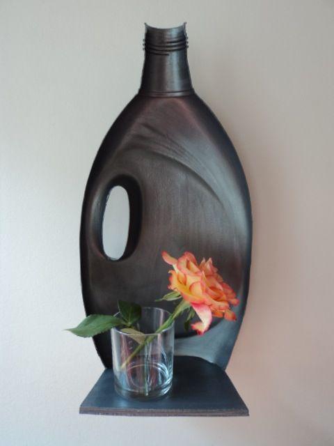 Plastic jug shelves