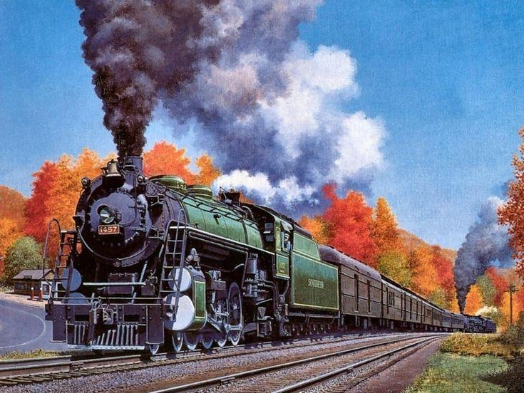 Юбилеем мужчине, открытка о железной дороге