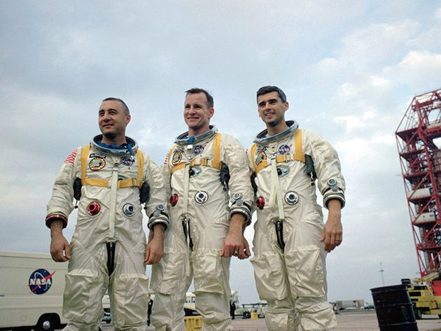 Jan. 27, 1967  3 Astronauts die in capsule fire.  I was 8 yrs old at the time and that horrified me.