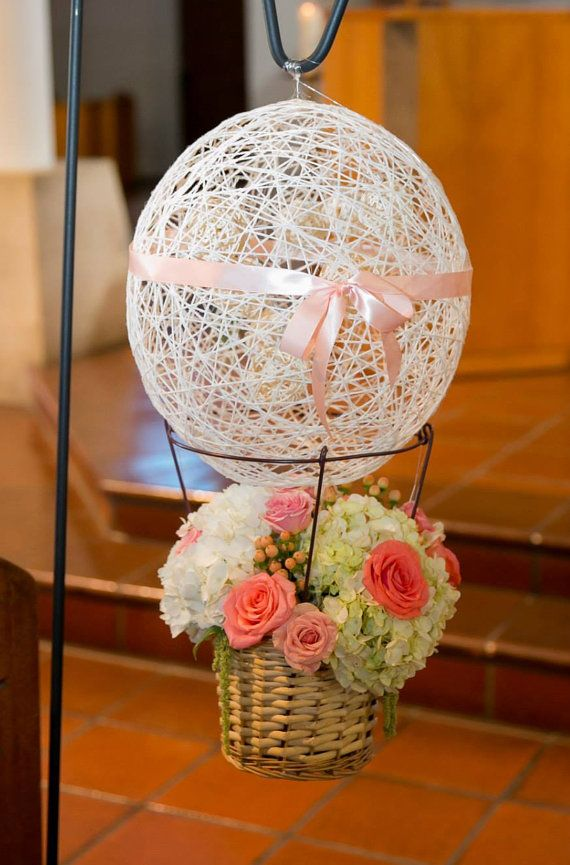 Handmade Hot Air Balloon Centerpiece Basket by ...