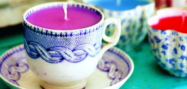 DIY Bone china tea cup candle.  This is so cute, and as the candle burns down, the thin china glows.  Good tutorial, would make awesome gifts.