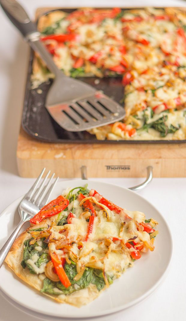 Latest on the blog! There's just so many reasons to love this red pepper and spinach filo tart. It's delicious, adaptable and versatile. Ideal for lazy brunches, weekend dinners and even hors d'oeuvre at a dinner party. Made with lower fat filo pastry sheets, lower fat grated cheese and lots of fibre rich spinach. You'll love this!