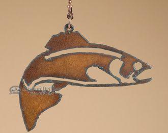 Rustic Metal Art Ceiling Fan Chain Pull -Fish (cp10)
