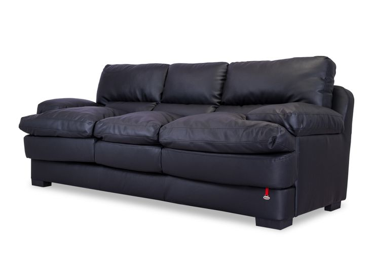This sofa is epic in proportions with super comfy foam cushions encased in Black Leatherette upholstery wherein you could just loose yourself.