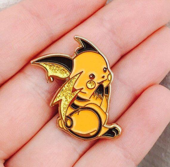 Shiny Raichu enamel pin by CozmicPinz on Etsy