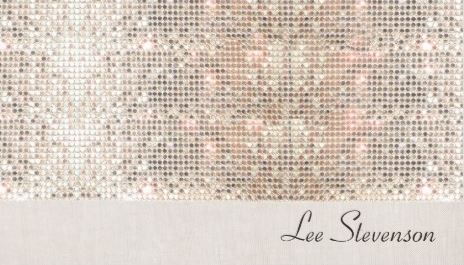 Glamorous and Glitzy Trendy Faux Sparkly Platinum Sequins Business Cards http://www.zazzle.com/glamorous_and_glitzy_trendy_faux_sparkly_sequins_business_card-240444986292709702?rf=238835258815790439&tc=GBCGlitz1Pin A fancy and fun sparkling gold mosaic glitter business card you can add your name to. This glamorous design is perfect for hair salons and fashion boutiques. Fill out the easy to use template on the details page.