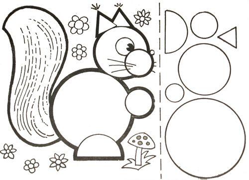 * Eekhoorn! TIP: Laat de kinderen de vormen zelf maken!