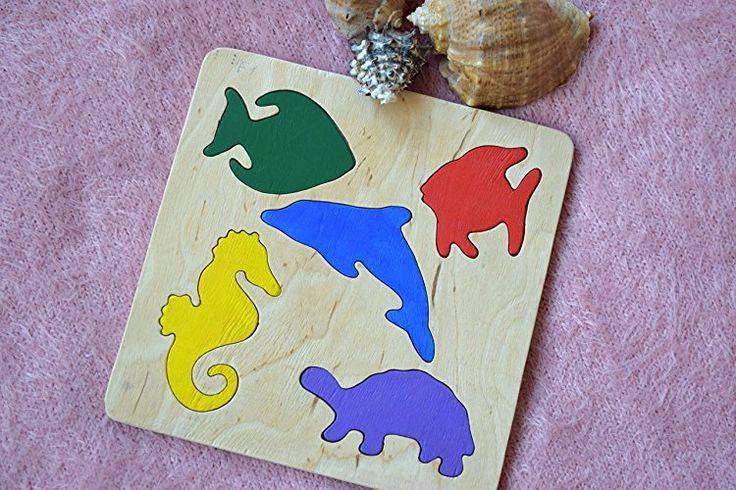 Wooden puzzle Baby Toy Montessori Toy Educational Toys Ocean Sea wooden puzzle Toddler wood Baby Shower Gift Organic Eco Friendly kids toy Baby gift Stacking toy Jigsaw Puzzle Learning toy