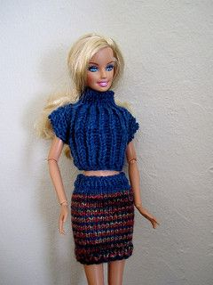 polo-neck/turtleneck top and skirt for Barbie.   Dolls and Doll ...