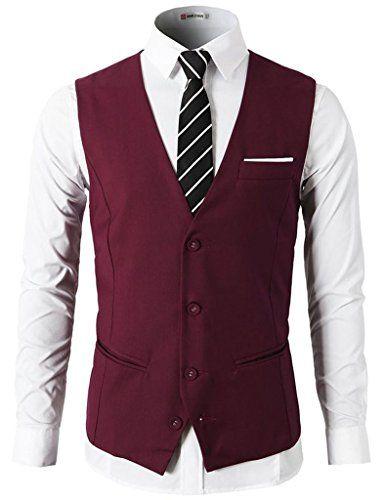 (Findes også i sort, grå, blå og grå) Dantiya Men's Sleeveless Casual Slim Fit Blazer Suit Vest Waistcoat Wine Red L Dantiya http://www.amazon.co.uk/dp/B01BWLEPCE/ref=cm_sw_r_pi_dp_oym3wb1764PSX