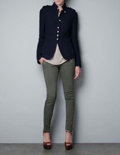 ZARA Military Jacket giving me everything I need in life. Well, not really, but super cute.