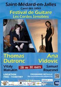 festival Cordes Sensibles. Du 28 au 30 mars 2014 à saint-medard-en-jalles.