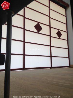 40 best PORTES COULISSANTE images on Pinterest Sliding doors - fabriquer porte coulissante japonaise