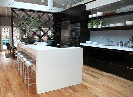 beautiful kitchen - love the open shelving