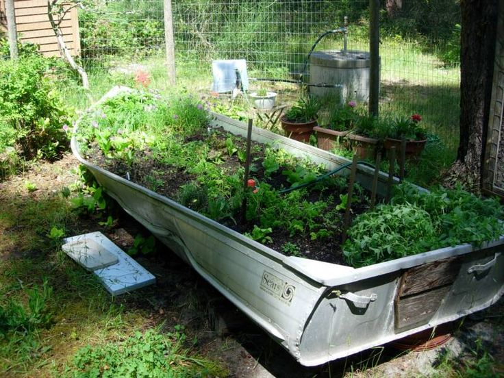 30 best images about all a boat planters on pinterest for Garden design troller boat