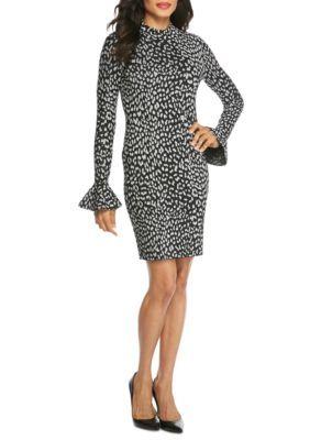 Michael Michael Kors Women's Metallic Cheetah Dress - Black/Silver - Xs