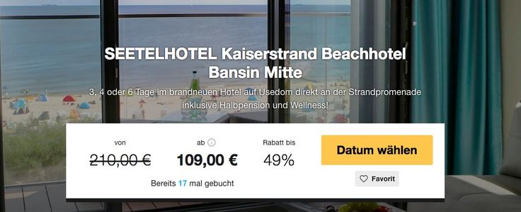Auszeit auf Usedom: 3 Tage im Beach Hotel schon für 109€ inkl. Halbpension und vielem mehr
