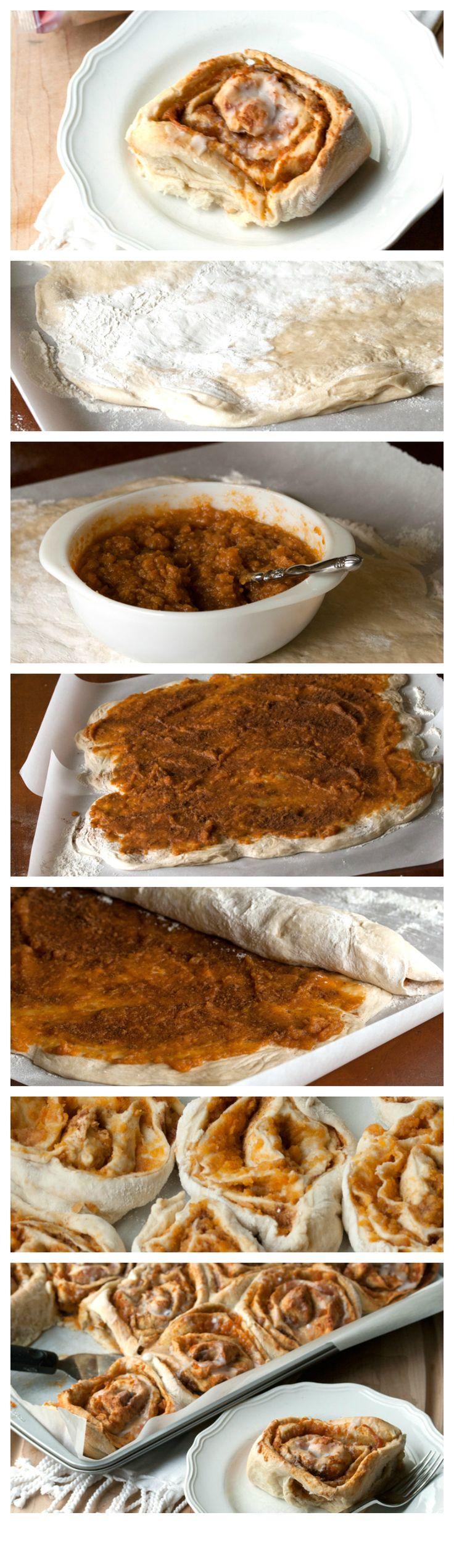 Easy Sweet Potato Rolls | AllSheCooks.com | #AlmostHomemade #Rhodes #breakfast #sweetpotatoes #rolls #sponsored