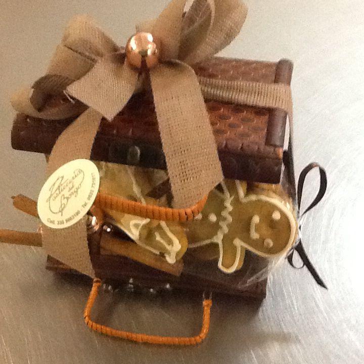Biscottini allo zenzero in confezione natalizia...idea regalo !