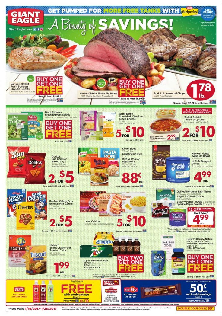 Giant Eagle Weekly Ad Circular January 19 - 25 United States #Grocery #GiantEagle
