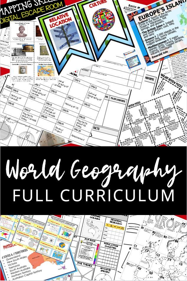 This World Geography Curriculum Mega Bundle Covers All Regions Of The World Mapping Skills Five World Geography Geography Activities Five Themes Of Geography