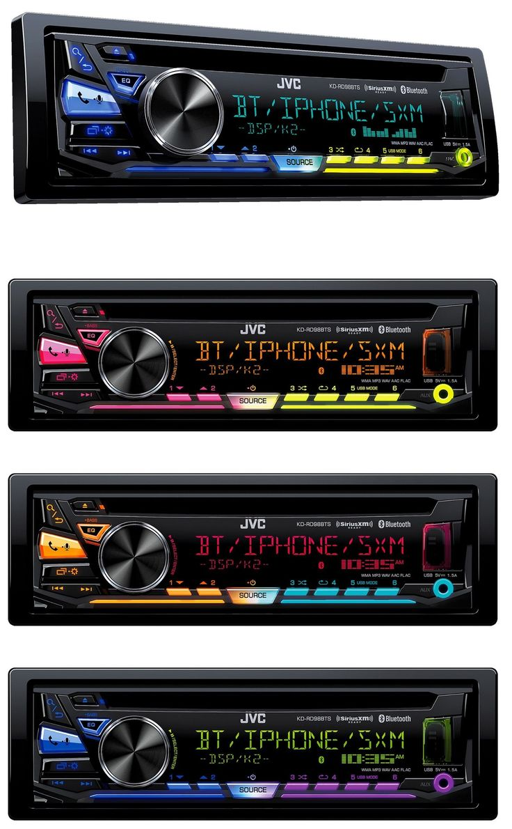 Car audio in dash units new jvc kd rd98bts cd mp3 player bluetooth
