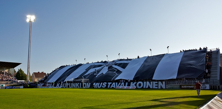 "FC TPS-tifo ""This Town is Black&White"""